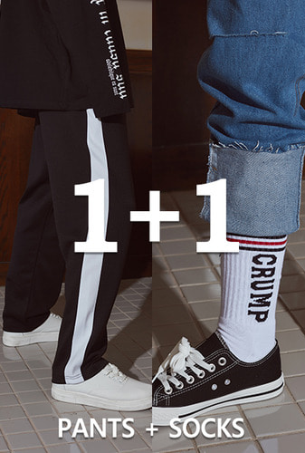 [1+1][크럼프]Crump line track pants + Crump logo socks (CP0030)