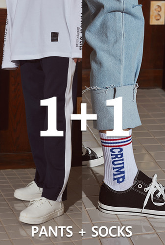 [1+1][크럼프][기모]Crump line track pants + Crump logo socks (CP0030-1)
