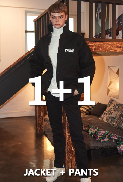 [1+1][크럼프]Crump double heavy coach jacket + Crump x thisrespect basic cotton pants